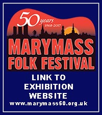 Graphic link to Marymass 50 exhibition website